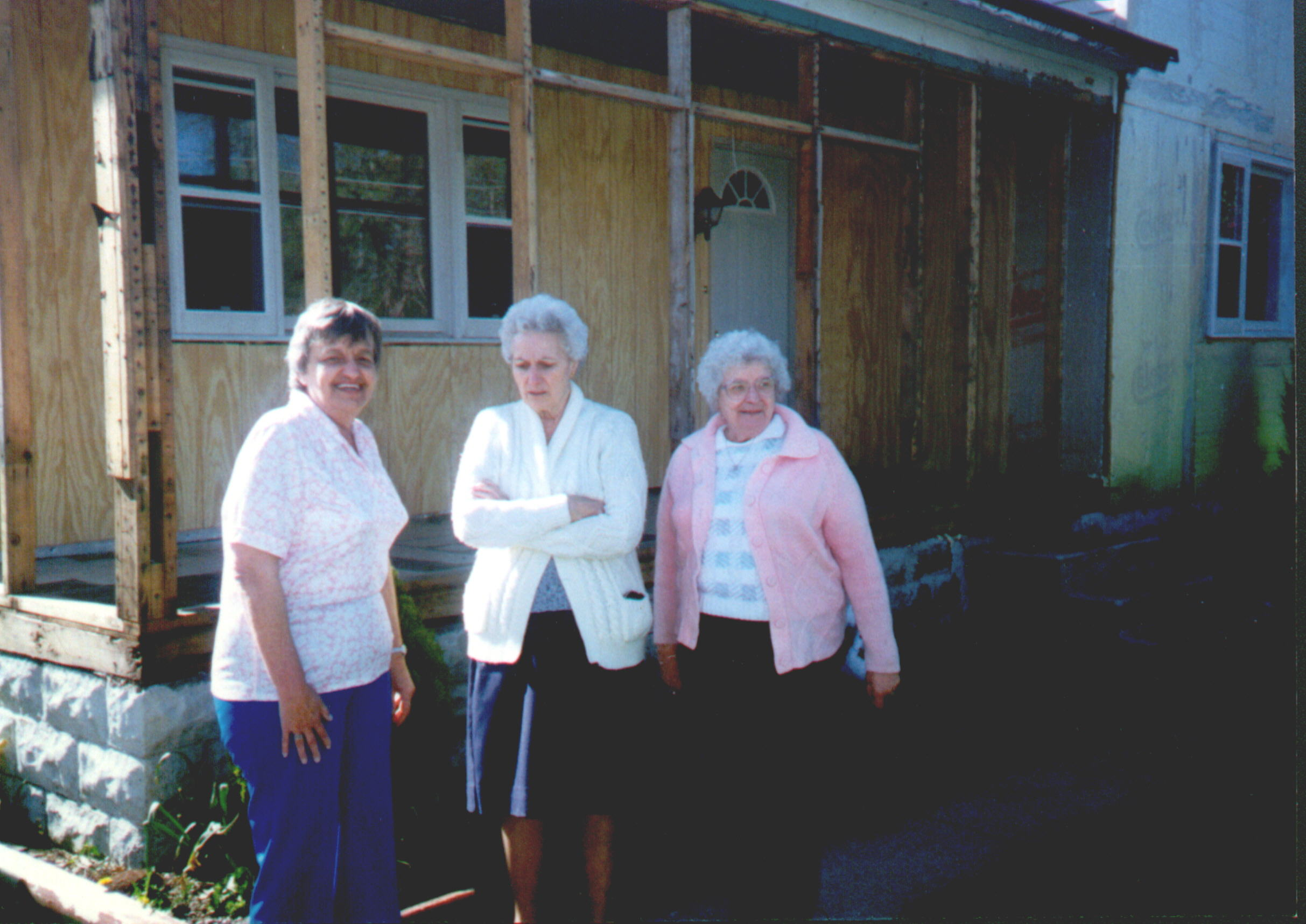 Joan Thines, Gertrude Franclemont, and Marge Thines in 1991